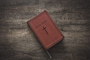 a holy bible which an individual now owns after not having gone to church for several years